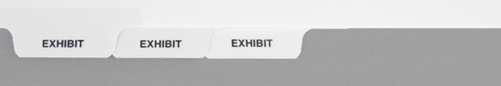 AVEG Exhibit Tabs - 5th Cut Bottom, Blank